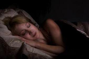 sleeping in dark room