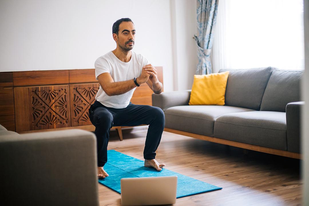 Body squats help boost energy