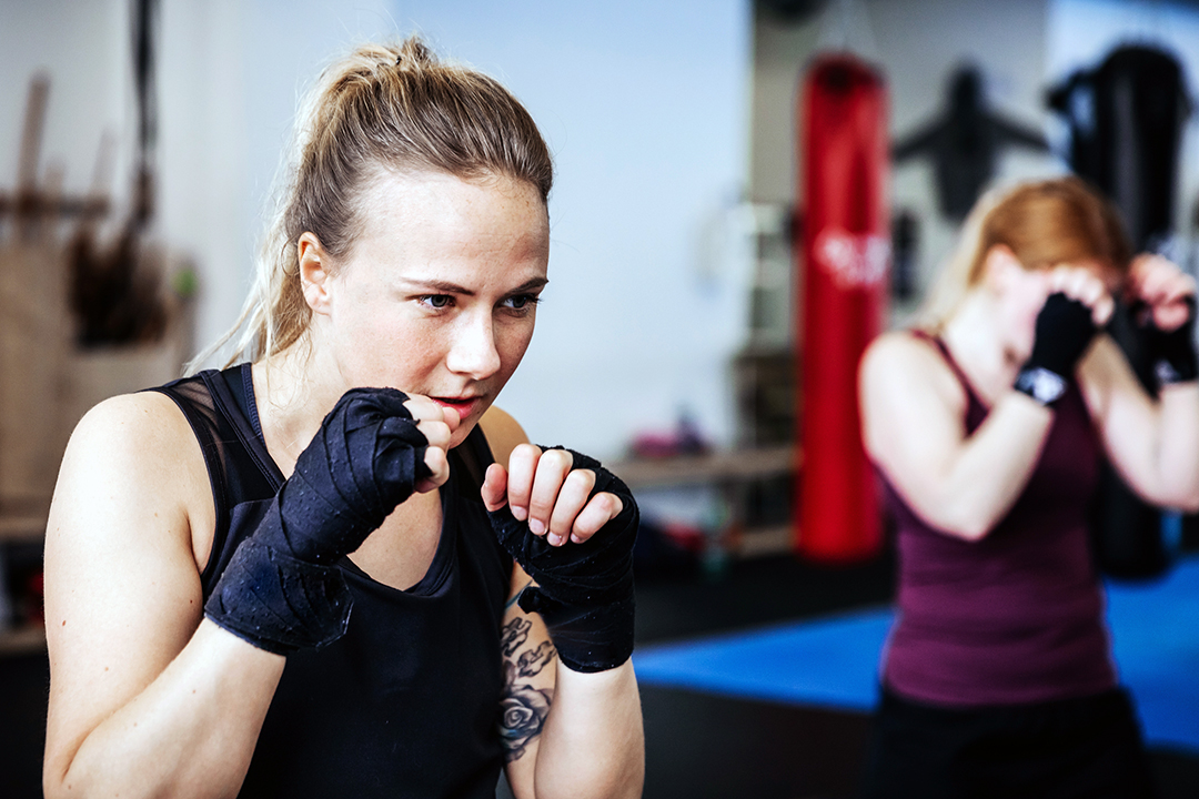 shadowboxing for energy boost