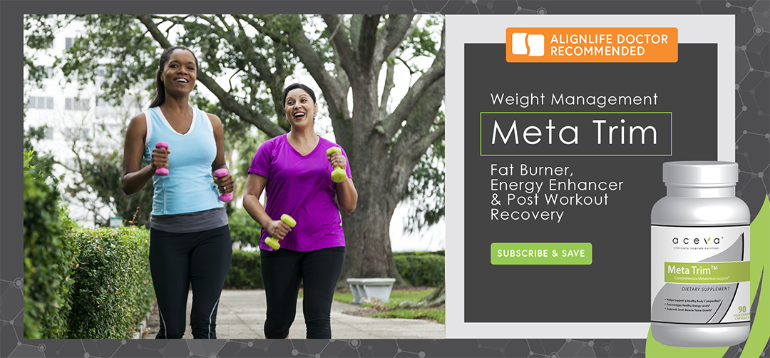 Aceva MetaTrim with two woman walking with weights to lose exercise and weight
