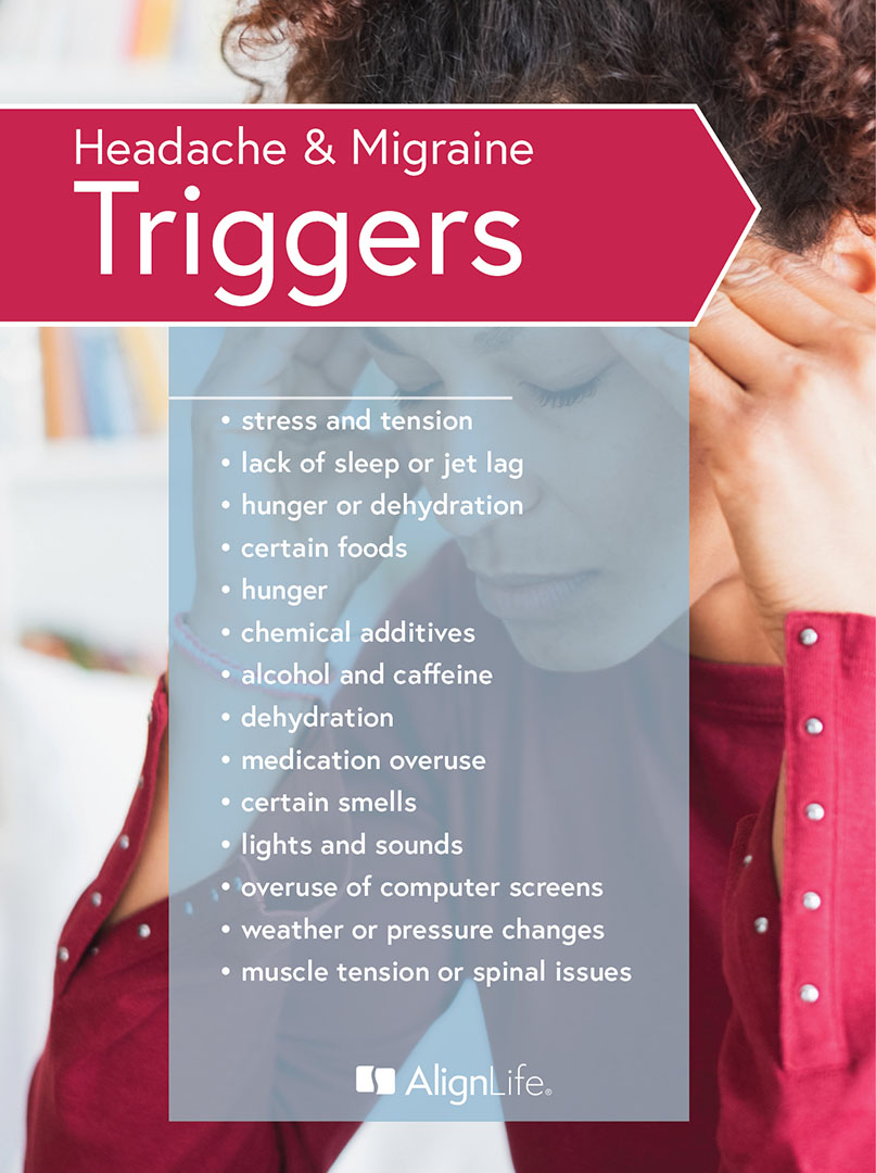 common headache and migraine triggers