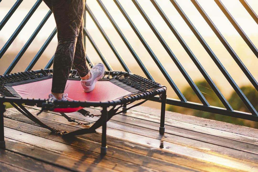 mini trampoline workout shuffle
