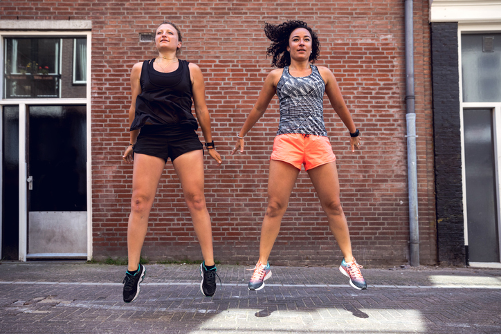 Urban runners crew training - hiit exercise