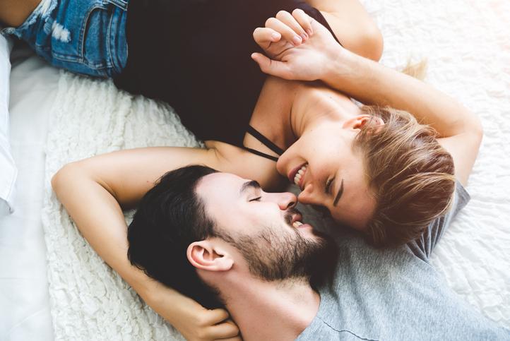 romantic kiss - healthy sex