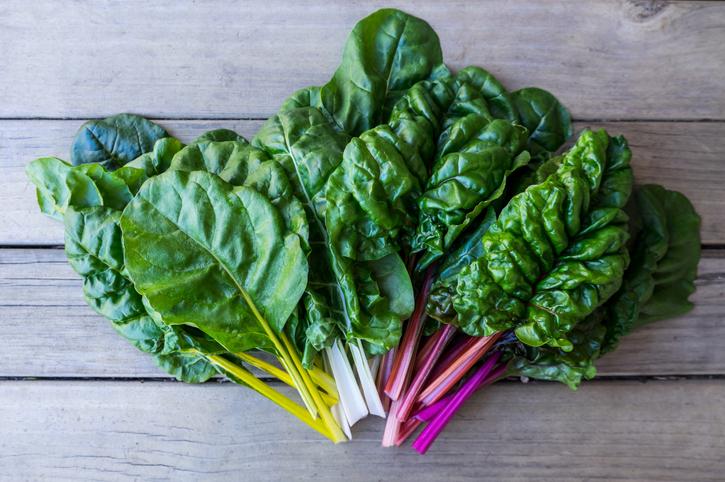 organic rainbow chard - dark leafy greens