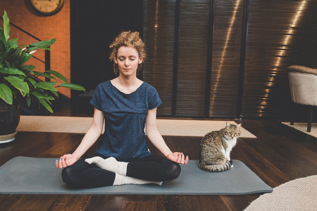 seated pose - morning yoga